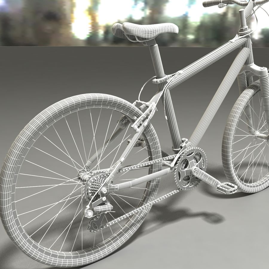 TREK 3500 Bike royalty-free 3d model - Preview no. 6