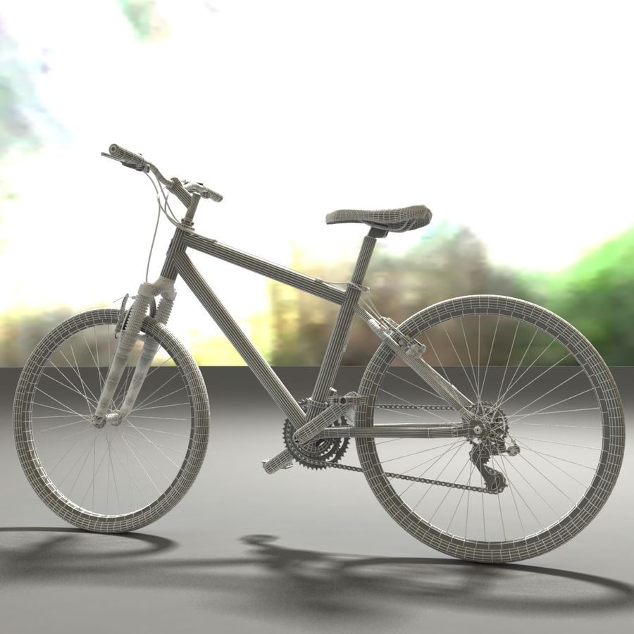 TREK 3500 Bike royalty-free 3d model - Preview no. 5