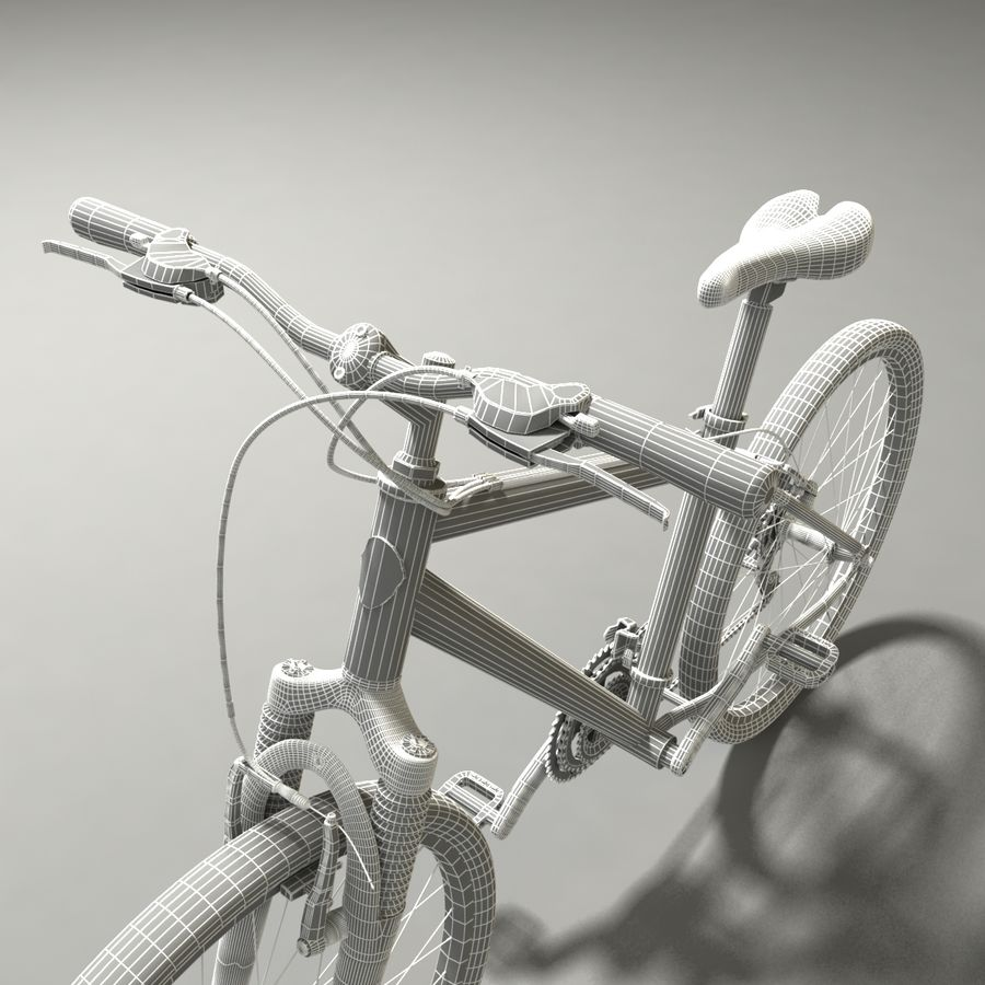 TREK 3500 Bike royalty-free 3d model - Preview no. 7
