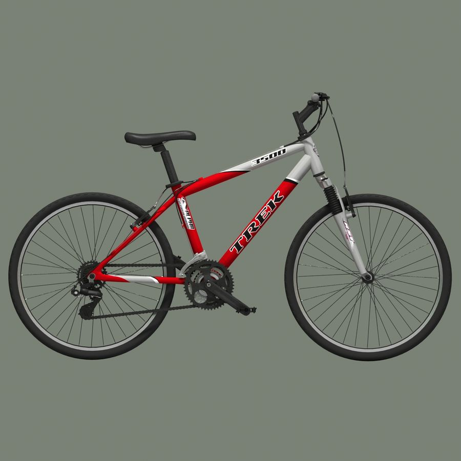 TREK 3500 Bike royalty-free 3d model - Preview no. 8