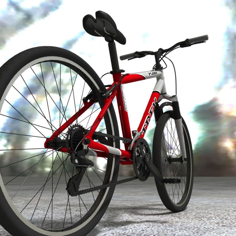 TREK 3500 Bike royalty-free 3d model - Preview no. 3