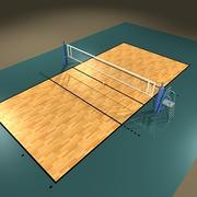 Terrain de volleyball 3d model