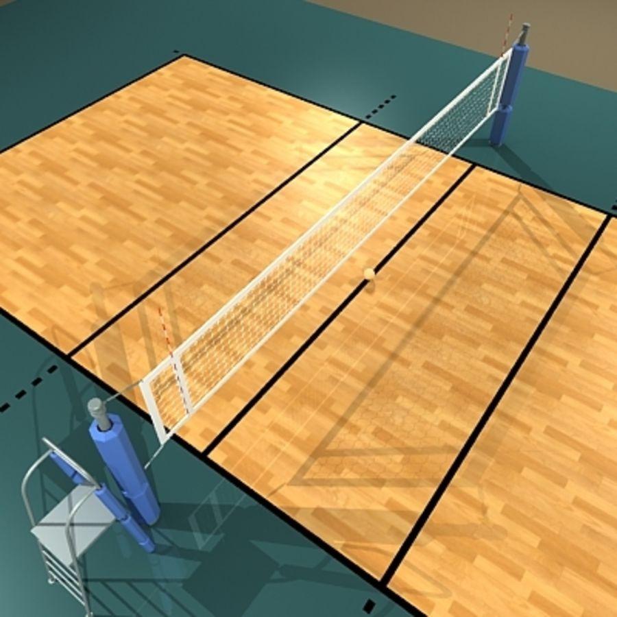 Cancha De Volleyball Modelo 3d 25 Obj Max Fbx Dxf Dwg 3ds