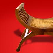 exotique asian chair antiguidade 3d model