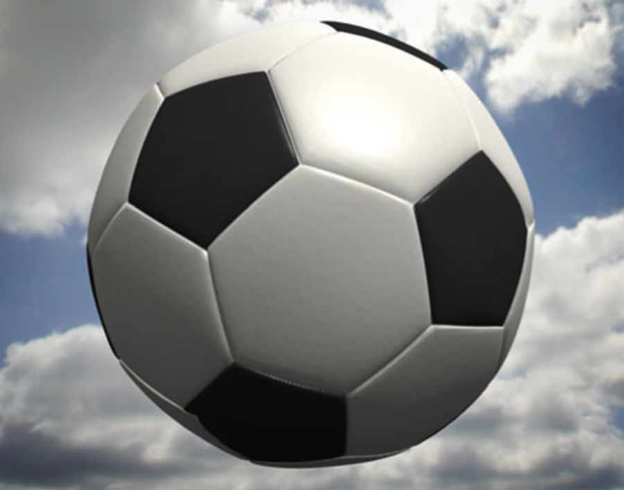 Pallone da calcio royalty-free 3d model - Preview no. 1