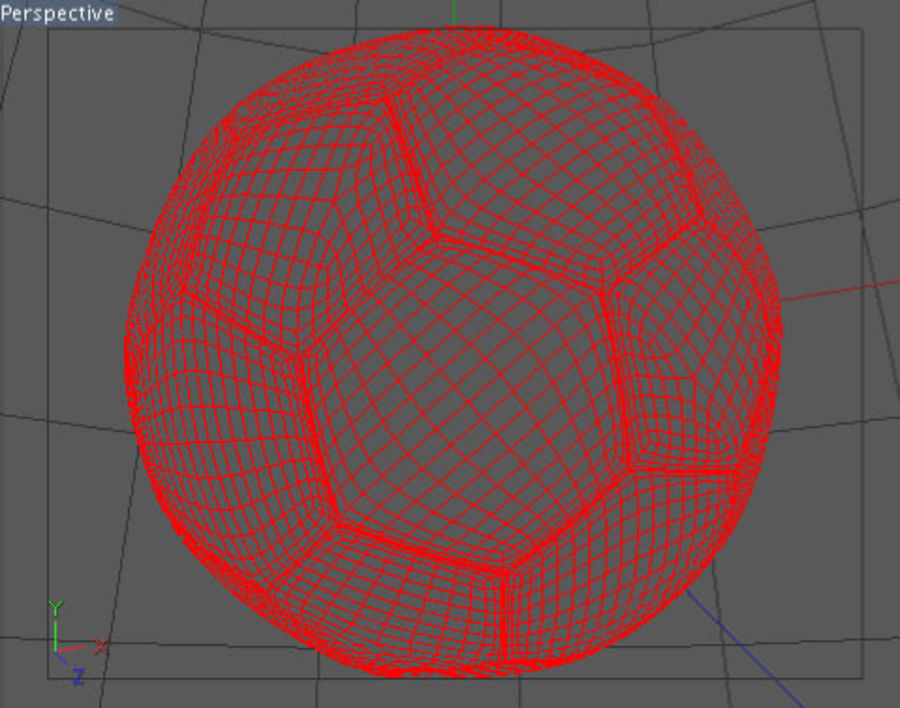Pallone da calcio royalty-free 3d model - Preview no. 2
