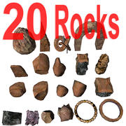 Rock & cliff - lowpoly set for landscape 3d model