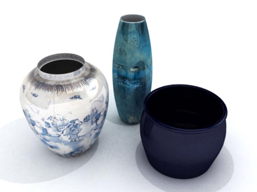 Plant Pots Vases 3d Model 49 X Obj Lwo 3ds Free3d