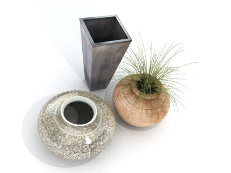 PLANT POTS & VASES royalty-free 3d model - Preview no. 3