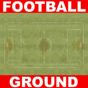 low-impact football ground 3d model