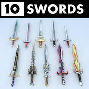 Fantasy swords collection 3d model