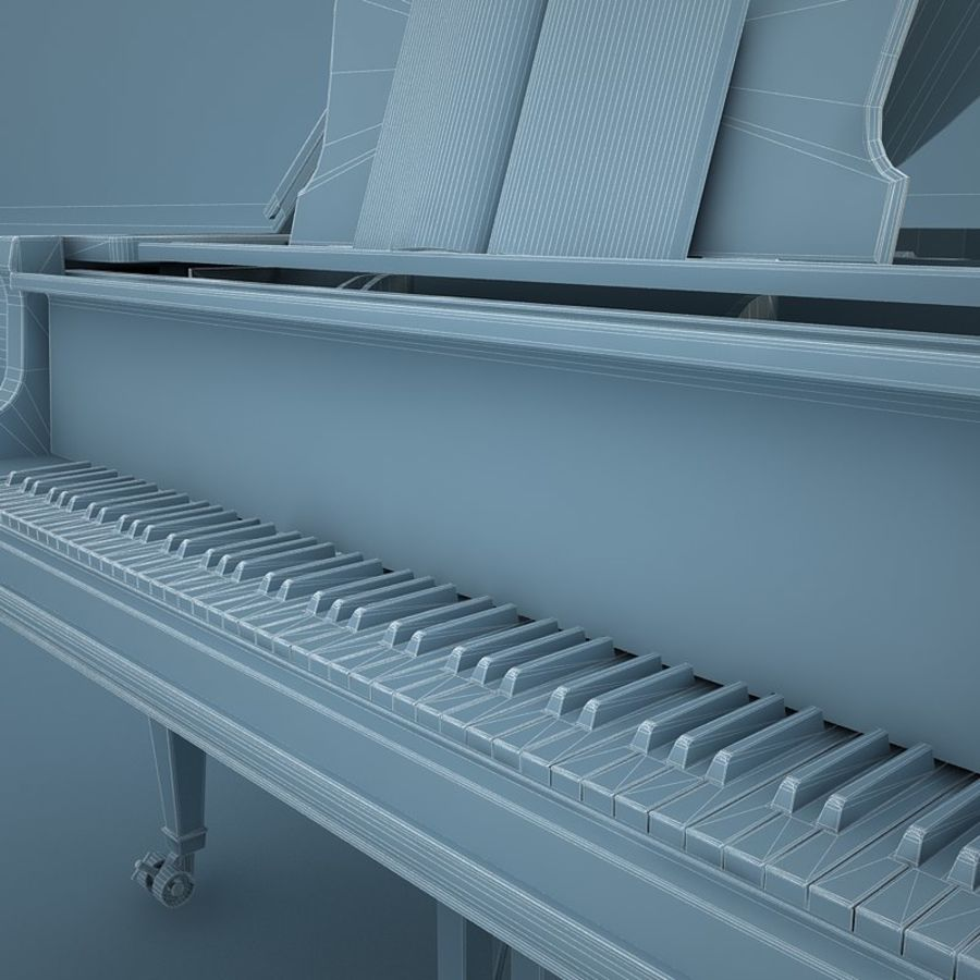 Grand Piano royalty-free 3d model - Preview no. 12