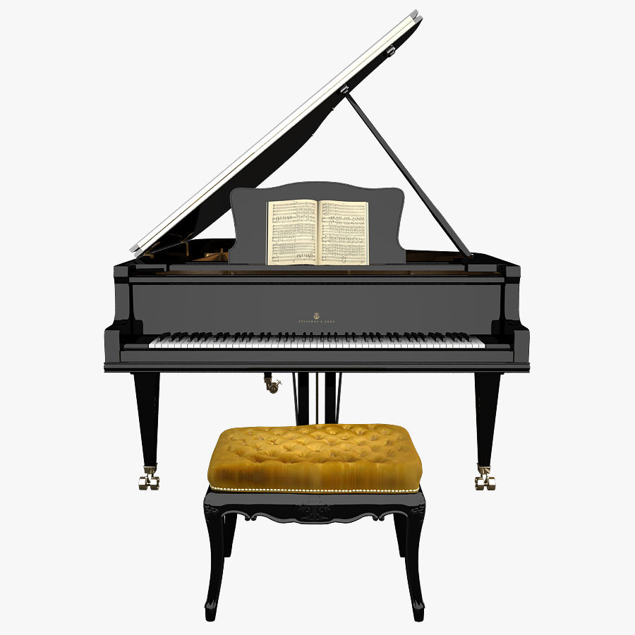 Grand Piano royalty-free 3d model - Preview no. 1