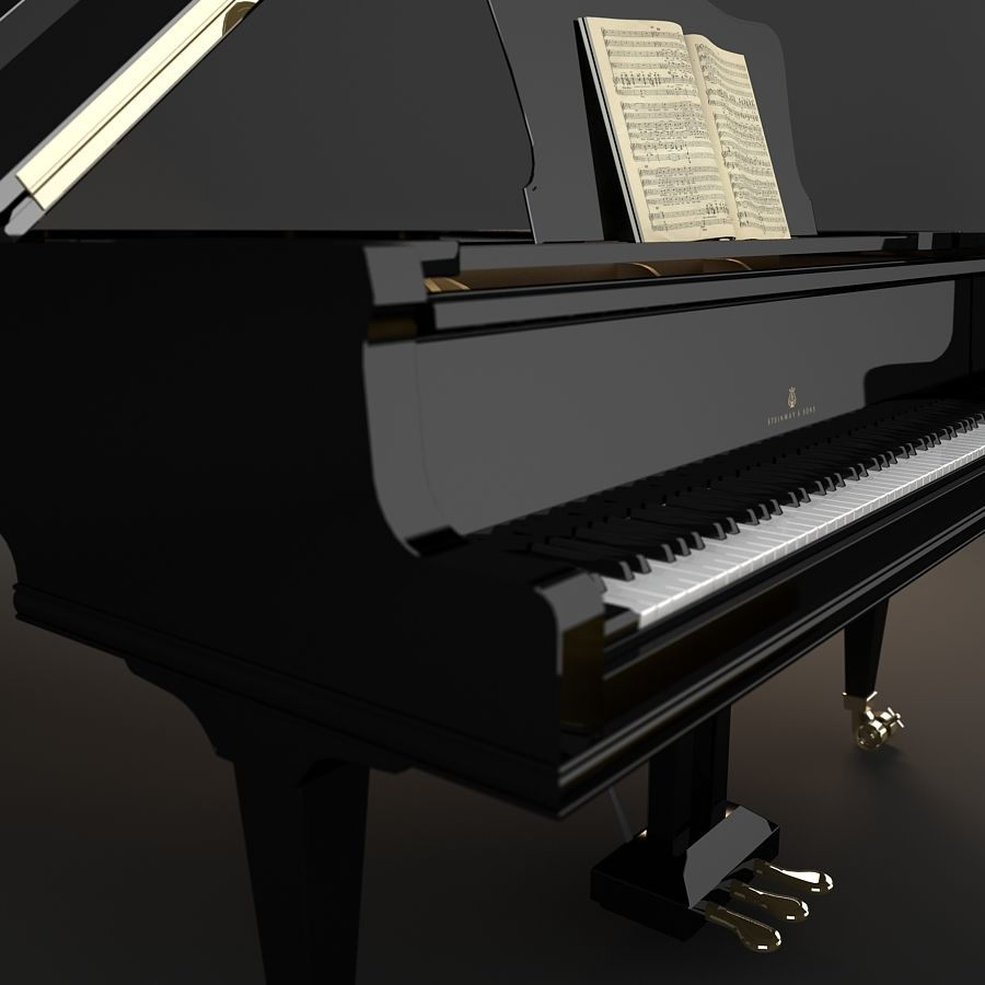 Grand Piano royalty-free 3d model - Preview no. 10