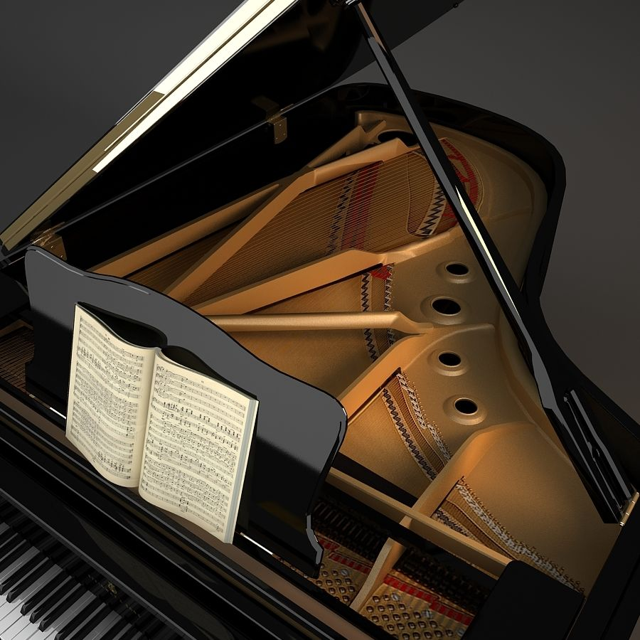 Grand Piano royalty-free 3d model - Preview no. 6