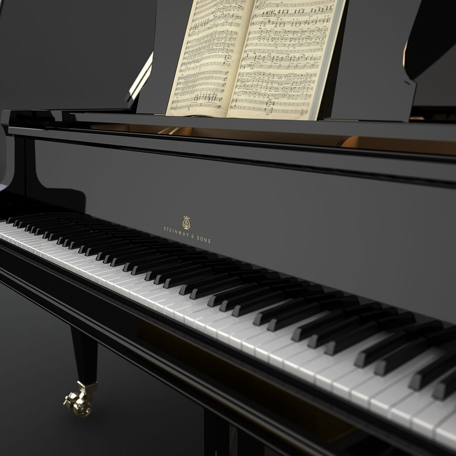 Grand Piano royalty-free 3d model - Preview no. 4