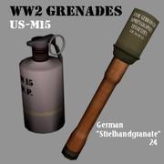 Granaty WW2 3d model