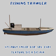 Fiskefartyg 3d model