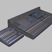 Audio Mixer lowpoly 3d model