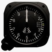 Altimeter Aircraft Instrument 3d model