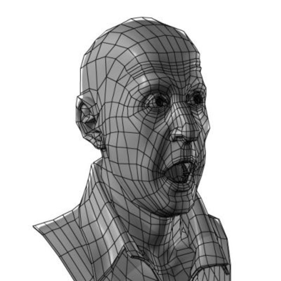 Male Head with Morph Targets royalty-free 3d model - Preview no. 5