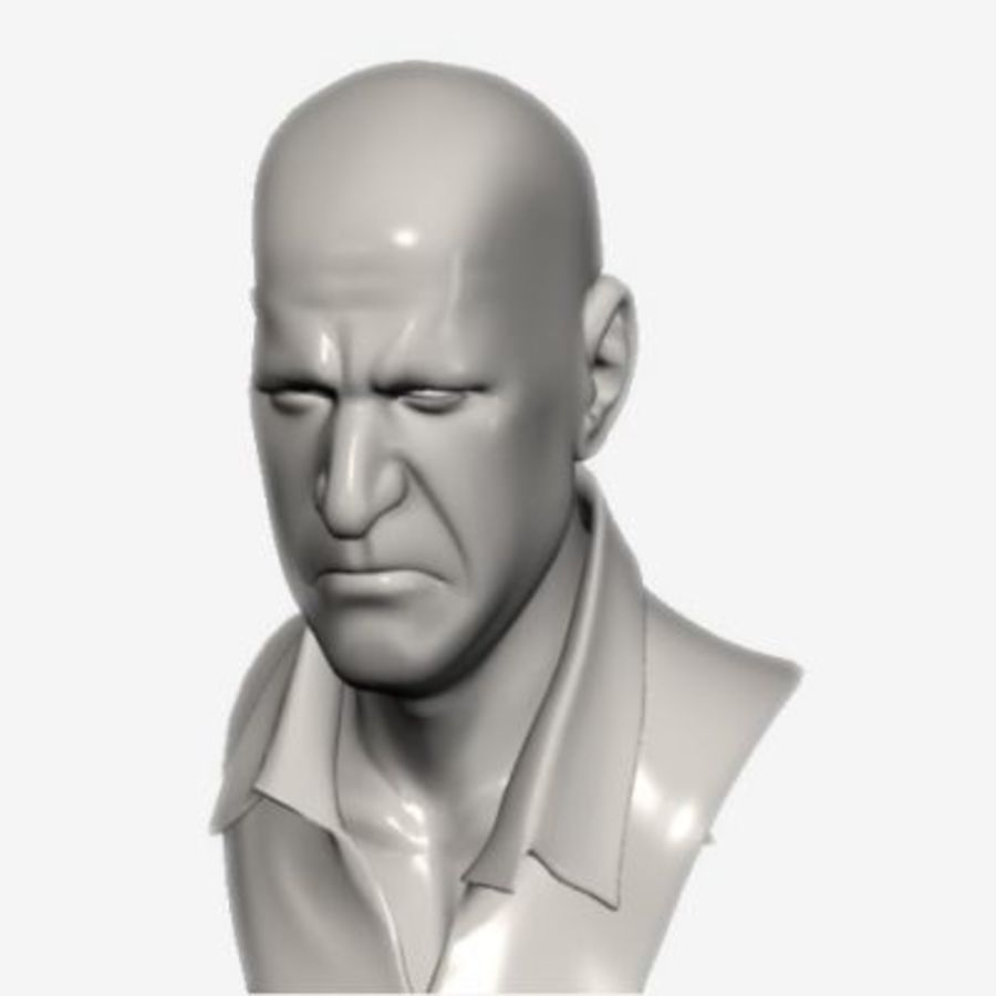 Male Head with Morph Targets royalty-free 3d model - Preview no. 2