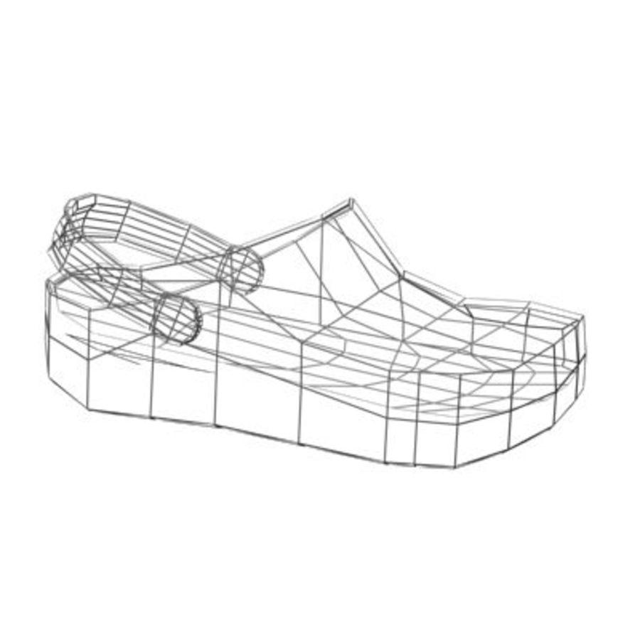 CROCS SHOES SANDALS royalty-free 3d model - Preview no. 11