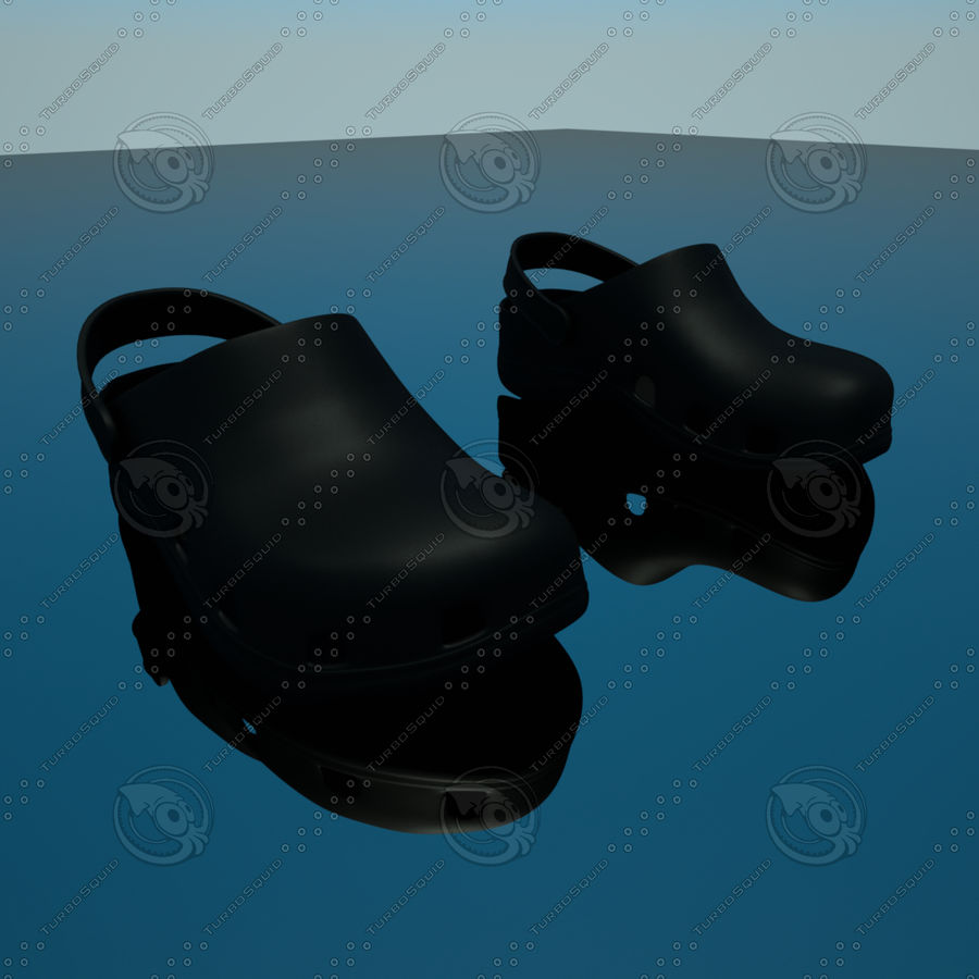 CROCS SHOES SANDALS royalty-free 3d model - Preview no. 4