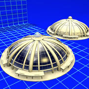 Ribbed Dome 080407 01 3d model
