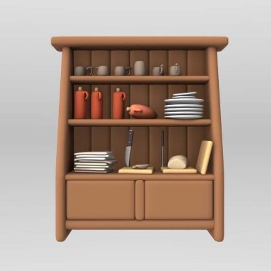 placard alimentaire royalty-free 3d model - Preview no. 1