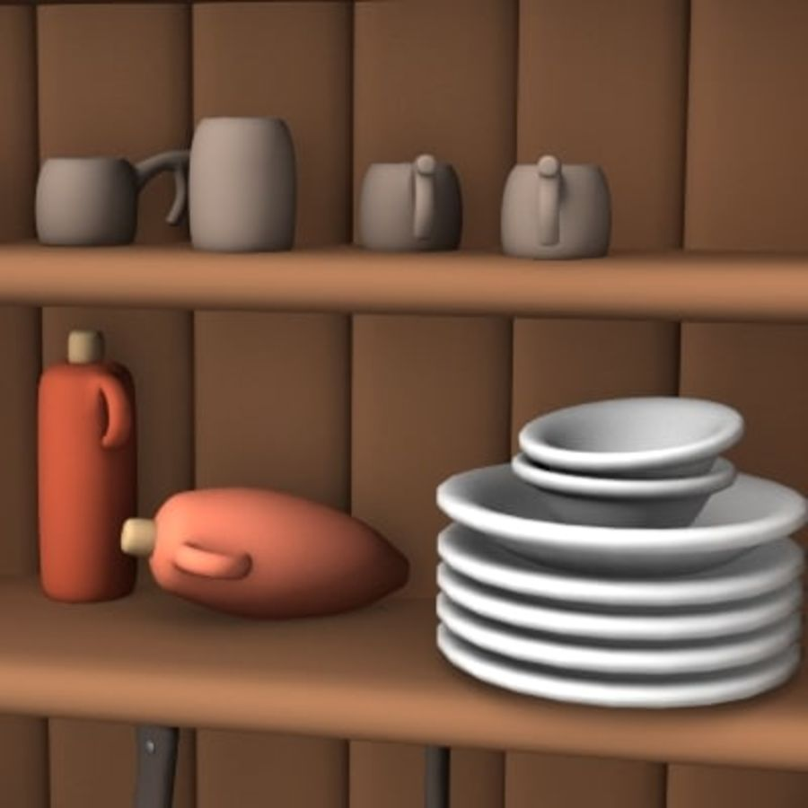 placard alimentaire royalty-free 3d model - Preview no. 4