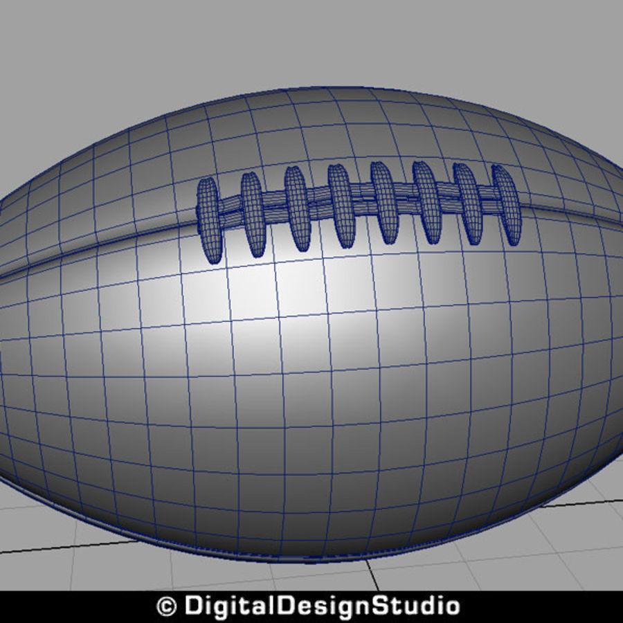 futbol amerykański royalty-free 3d model - Preview no. 9