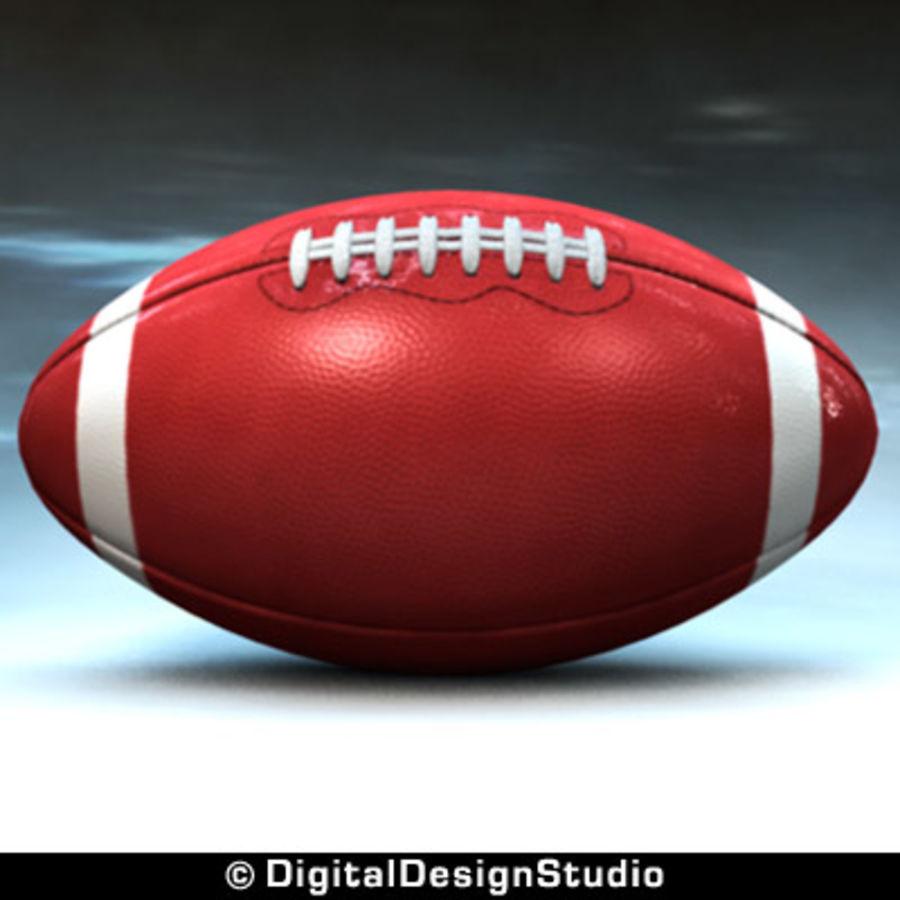 futbol amerykański royalty-free 3d model - Preview no. 5