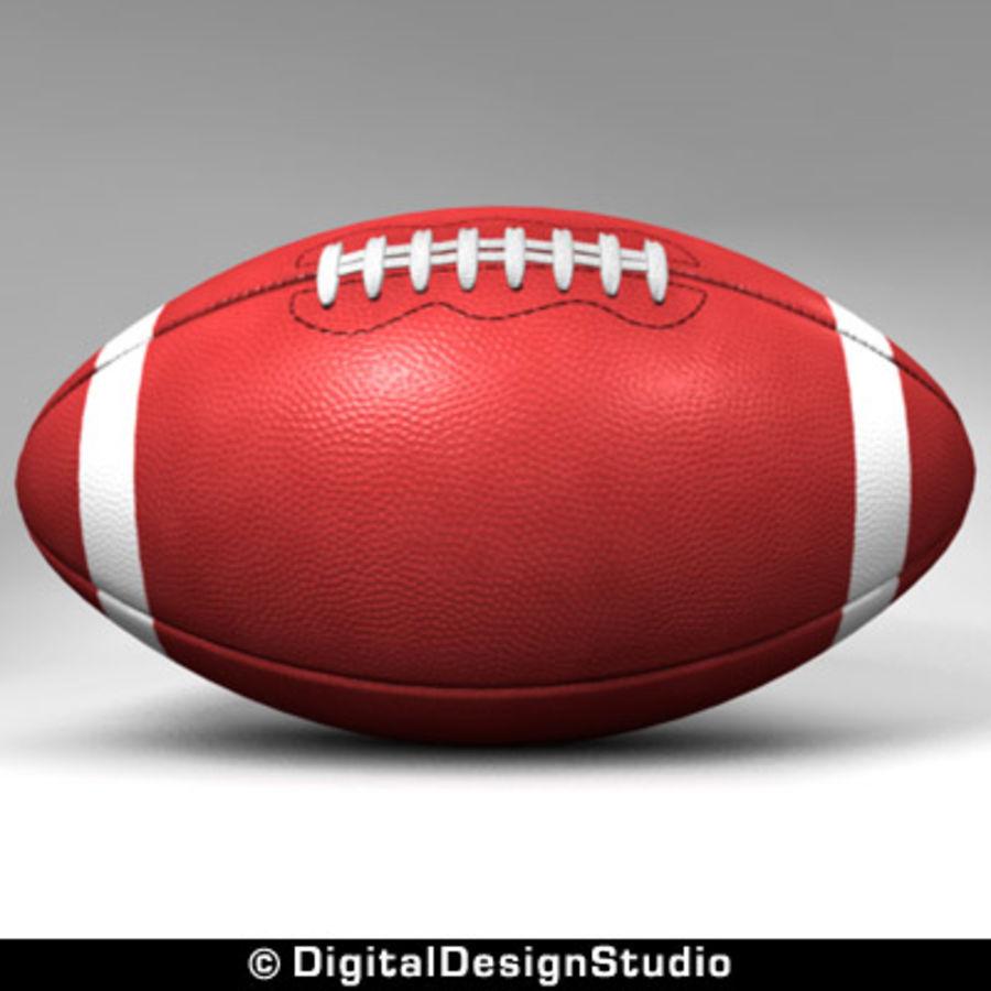 futbol amerykański royalty-free 3d model - Preview no. 3