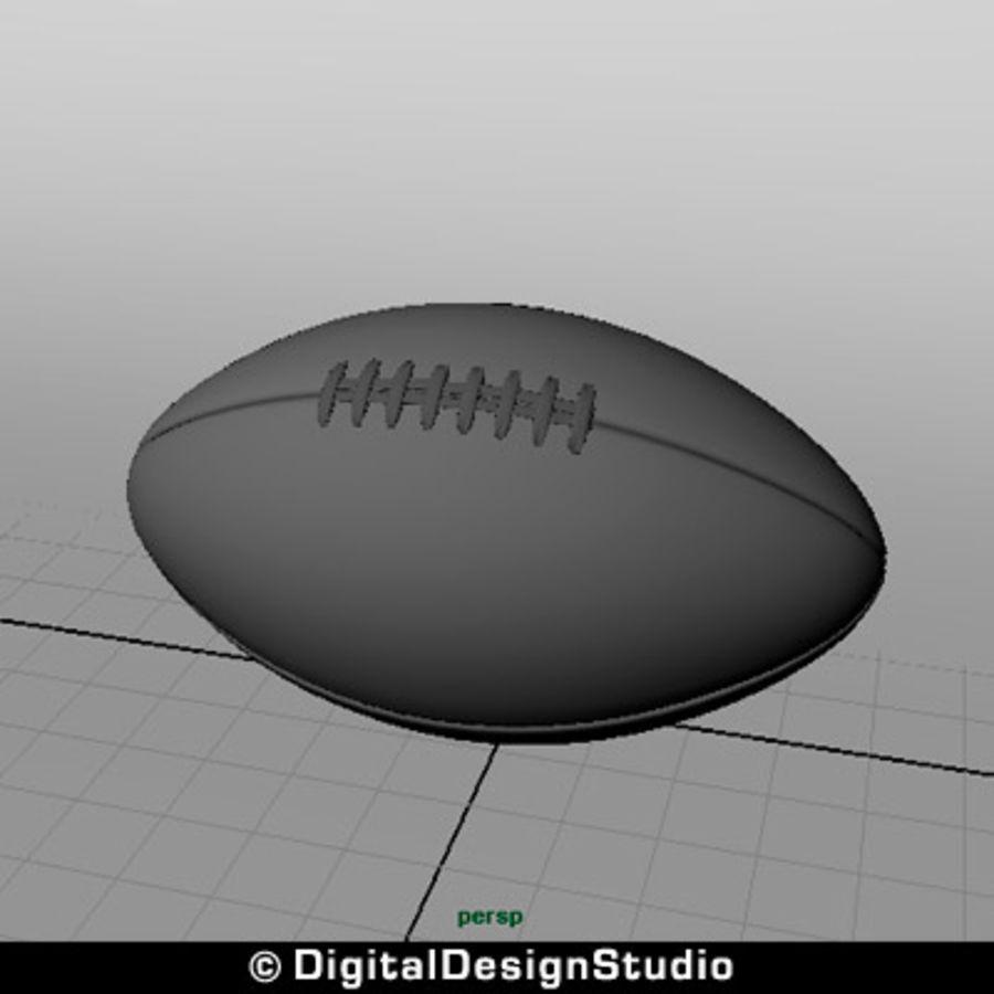 futbol amerykański royalty-free 3d model - Preview no. 7