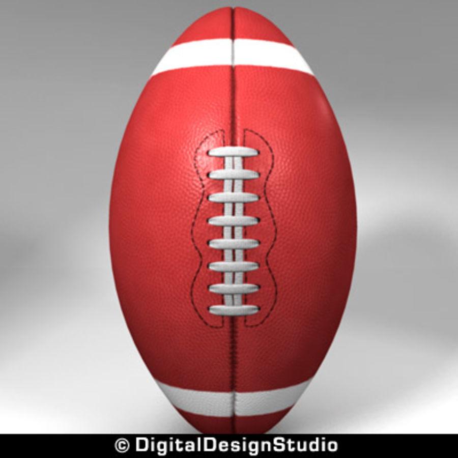 futbol amerykański royalty-free 3d model - Preview no. 4