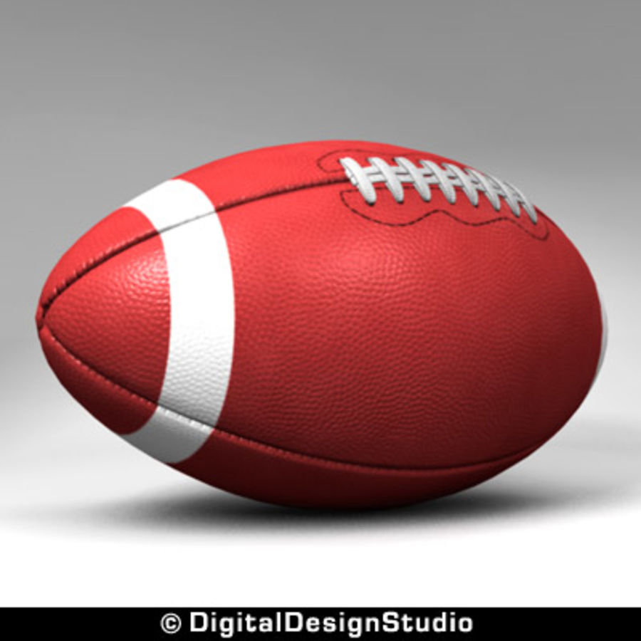futbol amerykański royalty-free 3d model - Preview no. 2