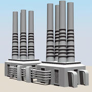 Chaminé Industrial III 3d model