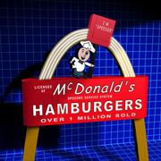 McDonalds Sign 01 retro 3d model