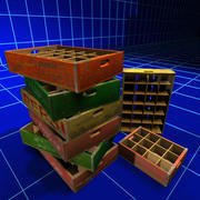 Soda Flat Crates 01 3d model