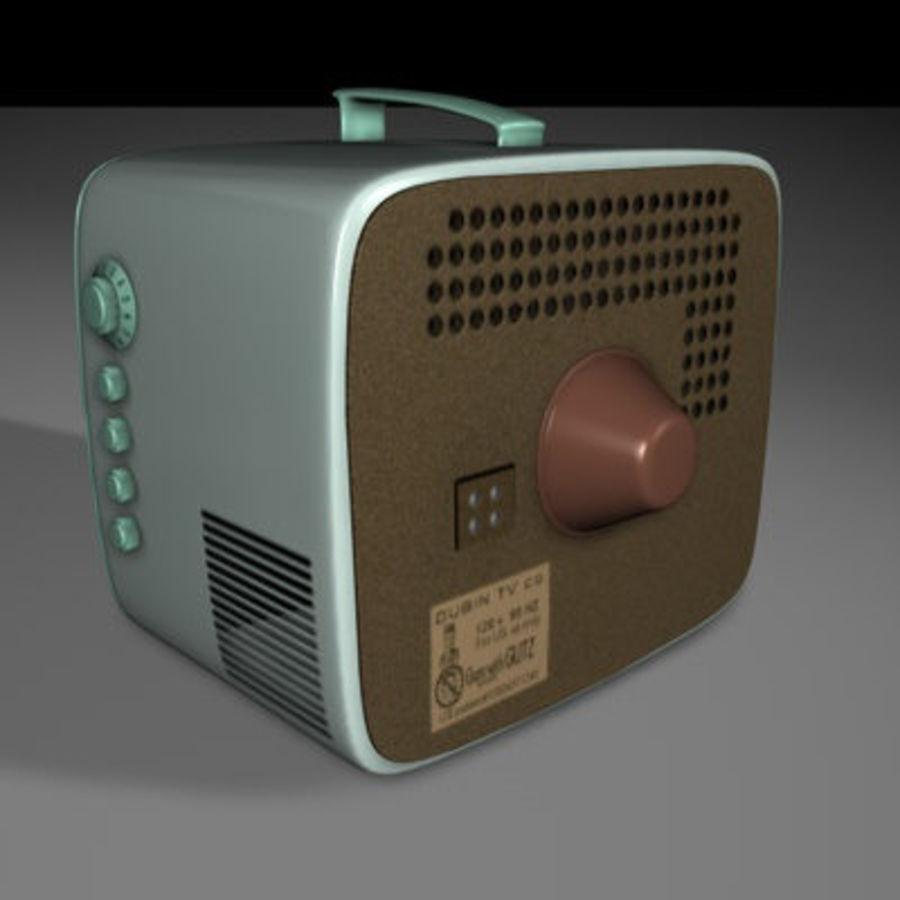 20世纪60年代便携式电 royalty-free 3d model - Preview no. 2