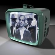 1960 년대 휴대용 TV 3d model