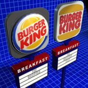 Burger King tecken 01 3d model