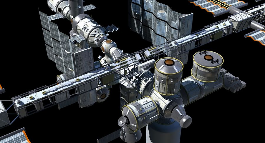 Iss royalty-free 3d model - Preview no. 3
