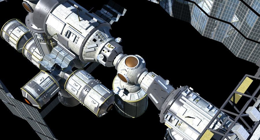 Iss royalty-free 3d model - Preview no. 16
