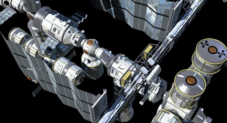 Iss royalty-free 3d model - Preview no. 4