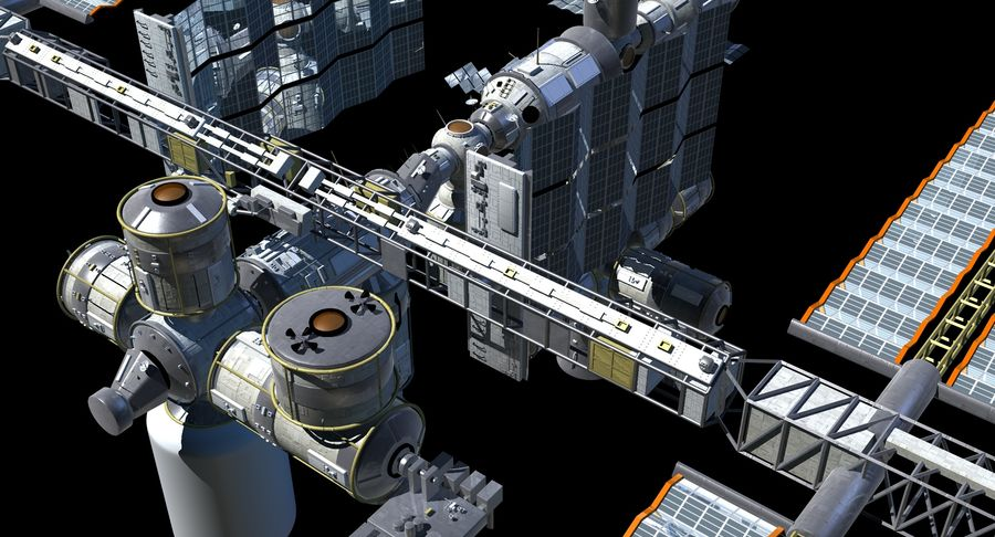 Iss royalty-free 3d model - Preview no. 8