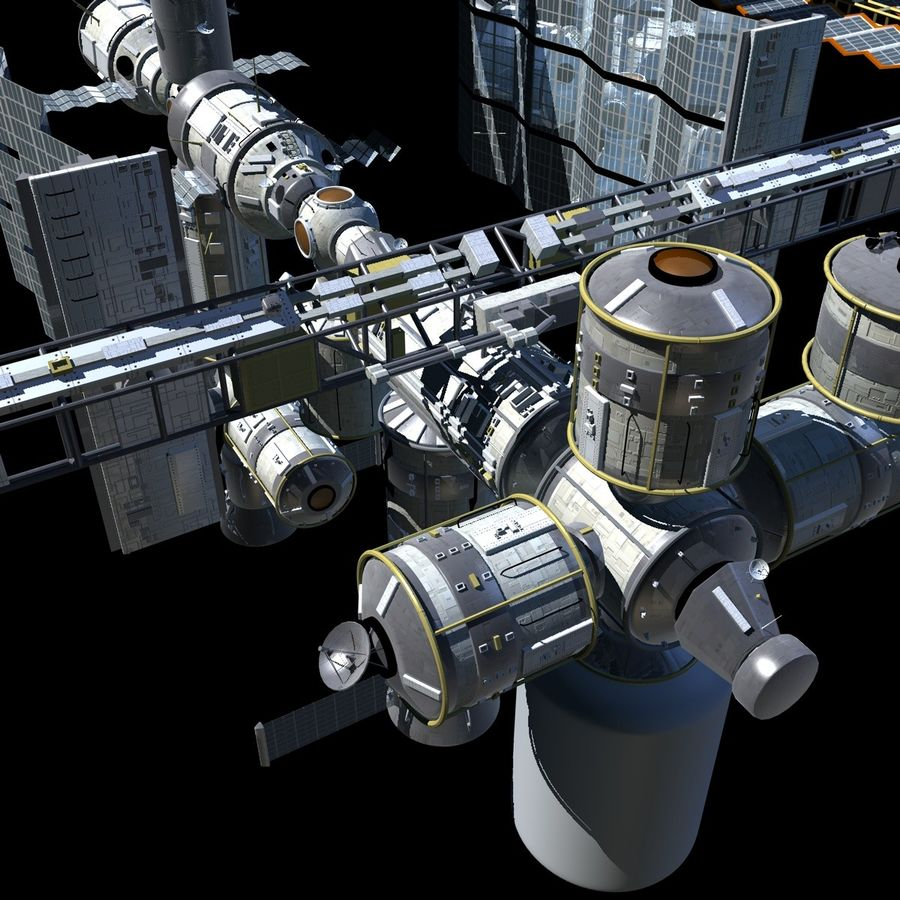 Iss royalty-free 3d model - Preview no. 1