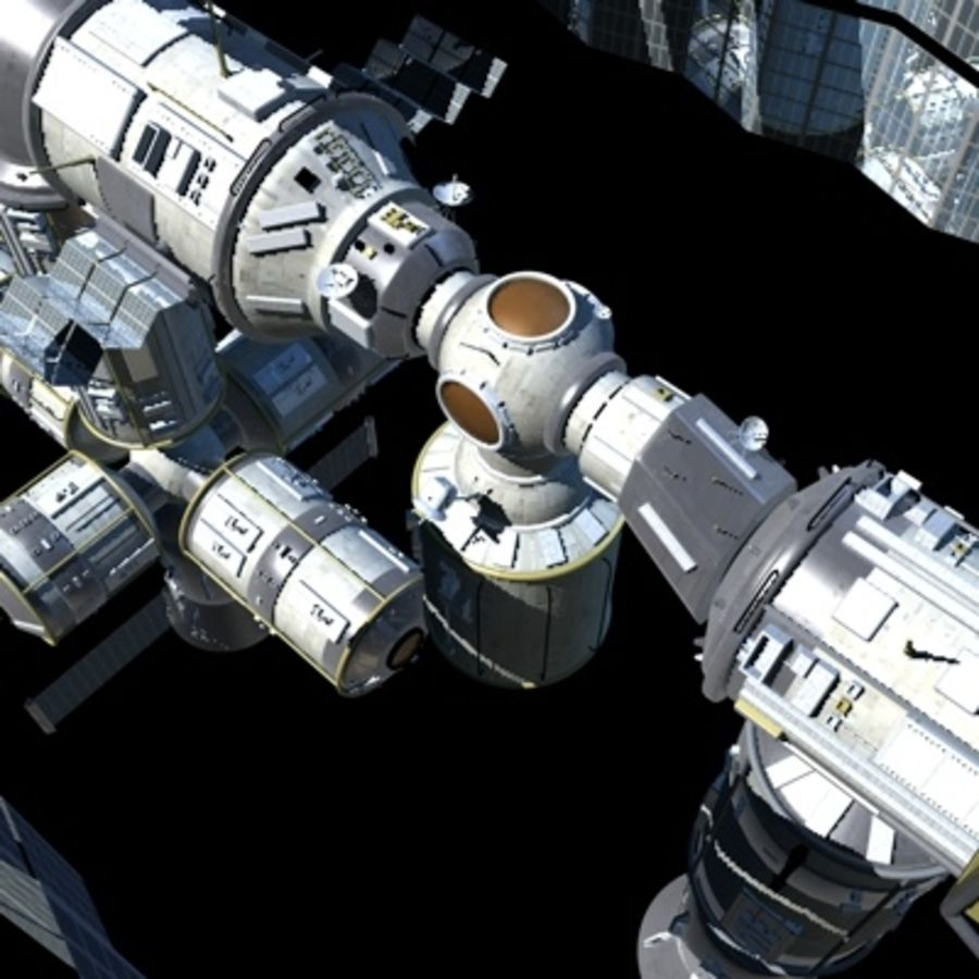 Iss royalty-free 3d model - Preview no. 9