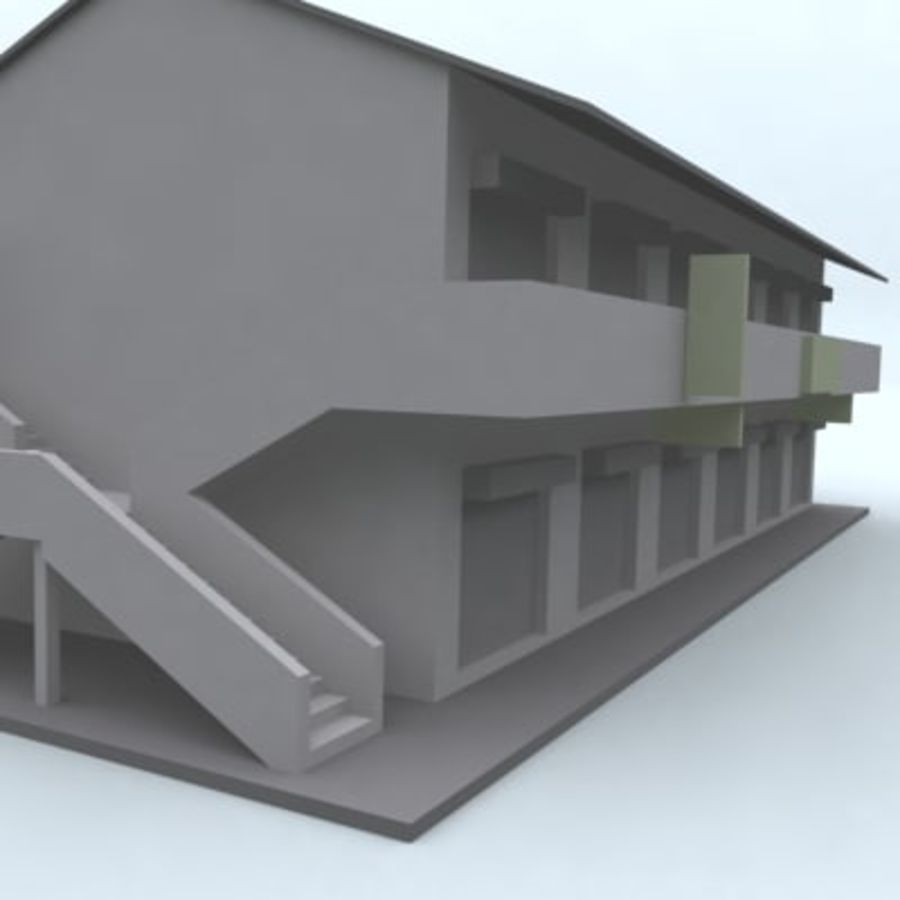 building 007 royalty-free 3d model - Preview no. 3